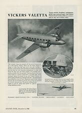 1948 Vickers Armstrong Aviation Ad Valetta Airplane Military Royal Air Force