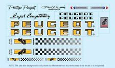 Peugeot PX10/PY10 Bicycle Decals-Transfers-Stickers Orange #6