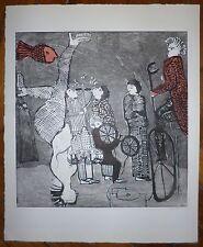 Gaëlle Pelachaud gravure originale signée Pierrot mon ami Quenaud art brut