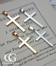"Yellow or White 9ct Solid Gold Cross Necklace 18"" 20"" 22"" 24"" PERSONALISE"