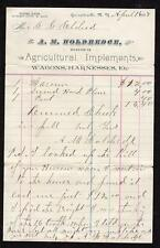 1897 GARRATTSVILLE NEW YORK A M HOLDREDGE WAGONS HARNESSES AGRICULTURAL ELDRED