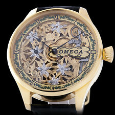 OMEGA WATCH Co MEN'S SKELETON ENGRAVING HIGH QUALITY SWISS POCKET WATCH MOVEMENT