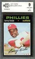 Larry Hisle Card 1971 Topps #616 Philadelphia Phillies BGS BCCG 9