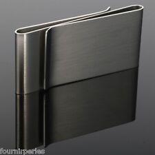 1 Pince à billet Clips Lisse Rectangle Acier inoxydable Accessoire 6.5x3cm