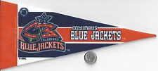 NHL MINI PENNANT FLAG BANNER 4 X 9 COLUMBUS BLUE JACKETS