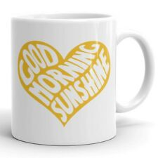 Good Morning Sunshine Heart Coffee Mug Tea Cup Cute Gift for Her Girlfriend Wife