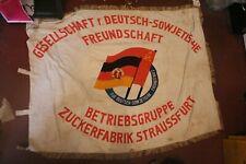 Grosser Alter DDR Ehrenbanner DSF Betriebsgruppe Straussfurt Fahne Flagge