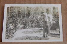 Photograph Social History Egyptian Man In Rose Garden Cairo  1930's