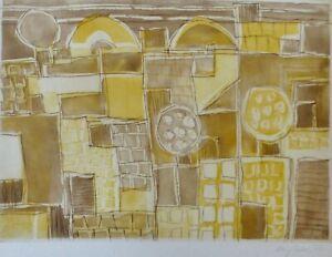 "EDUARD BARGHEER 1901-1979 ""Forio"" HAND SIGNED 1973 Etching German Artist"