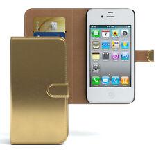 Bolso para Apple iPhone 4/4s case cartera, funda protectora, funda, protección oro
