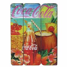 COCA-COLA - Licensed Wood Plaque - Tropical Classic Vintage Sign