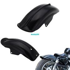 Noir Garde Boue arrière Pour Harley Sportster Chopper 883R 1200 XL 94-03