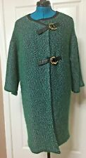 Tory Burch Green Color With Metallic  Wool Blend Open Front  Cardigan Size S