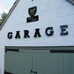 GARAGE 3D metal letter set mancave wall sign man cave shed workshop VAC135