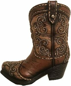 Western Cowboy boot Pen Holder Tooth Pick Holder Home Office Decoration
