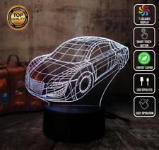 AUDI TT CAR AUTO MOTOR 3D Acrylic LED 7 Colour Night Light Touch Table Lamp GIFT
