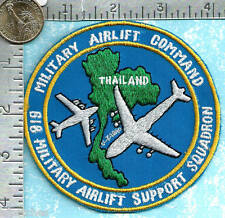 Authentic USAF Thai made Vietnam war era patch 618th Military Airlift Support Sq