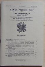 LA PHYSIOPHILE n° 106 12/1986 sciences naturelles historiques Montceau les Mines