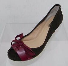 Women's Halogen Tanya Brown/Red Open Toe Heel Size 11 M