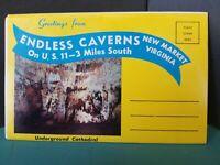 Vintage Virginia VA New Market Endless Caverns Postcard Foldout 1960-70s #139