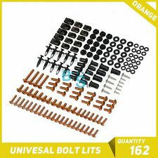 Orange 162Pcs Fairings Bolt Kit Fastener Nuts Screws for Yamaha R1 R3 R6 R125