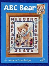 Cross Stitch Pattern ABC Bear Alphabet & Afghan Design