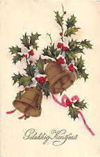 BG4163 gelukkig kerstfeest bell christmas Mistletoe netherlands greetings