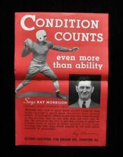 >orig.1935-39 SCHOLASTIC COACH Poster **Vanderbilt Football Coach RAY MORRISON**