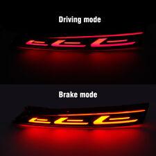 Red LED Rear Bumper Tail Brake Light Lamp For Hyundai Solaris Accent 2017-2018