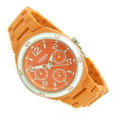 Fossil Damen Armbanduhr Day&Date Chrono orange ES-2578 5ATM Batterie neu N150
