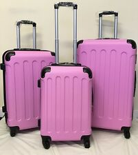 Hard Shell 4 Wheel Spinner Suitcase Luggage Case Trolley Cabin Carry On PC PINK