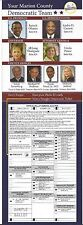2008 BARACK OBAMA INDIANA COATTAIL TICKET - MULTIGATE w/ PICTURES