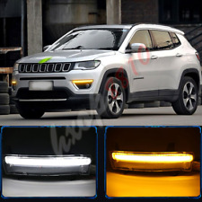 1pair Fog/Driving Lights For JEEP Compass 2017-18 LED Daytime Running Lights DRL