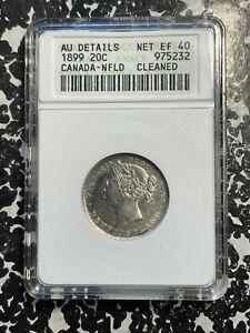 1899 Newfoundland 20 Cents ANACS AU Details Lot#A223 Silver!