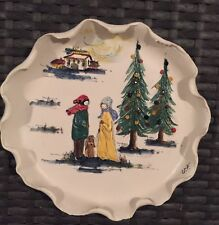 Christmas 1972 Plate by Fontana, Italy, Handcrafted & Painted Limited, Numbered