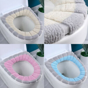 Toilet Seat & Cover Bathroom Mat knitting Washable Warm Bathroom Closestool Mat