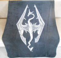 New Skyrim Video Game Plush Fleece Throw Gift Blanket The Elder Scrolls V Dragon