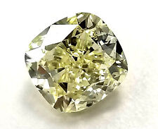3 CT NATURAL LOOSE DIAMOND HUGE GIA CERTIFIED CUSHION CUT YELLOW COLOR