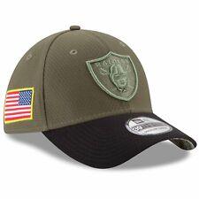 Oakland Raiders New Era 39THIRTY NFL Salute To Service Stretch Hat Sz L/XL 2017
