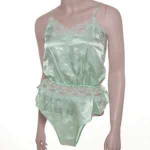 Radiance Fashion Green Bubbles Teddy Lingerie Size Large