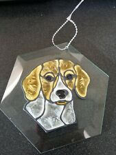 Glass Suncatcher With Bea 00004000 gle Dog