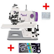 Nur 198 € Neue Texi Blindstich Nähmaschine +Titan Schere + 10 Nadel mit Rechnung