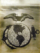 Arthur Mole Photo, U.S. Marine Emblem, 1919, living photograph