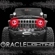 2007-2017 Jeep Wrangler JK ORACLE LED SMD Headlight Halo Kit - 2 Rings/Color-Red