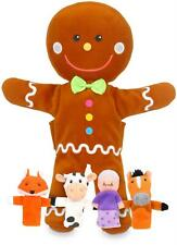 Fiesta Crafts GINGERBREAD MAN HAND AND FINGER PUPPET SET Soft Toy BN