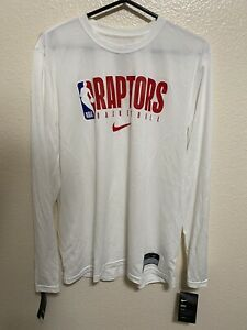 NIke NBA Toronto Raptors Long Sleeve Shooting Shirt Men's Sz Medium CD2711-100