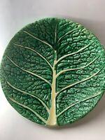 Caldas  PORTUGAL Handmade-RARE CABBAGE Leaf vintage Bowl