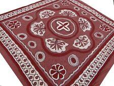 Lotus Couvre-lit tribale Fait main Mandala Bordeaux Tenture Coton Inde Boho