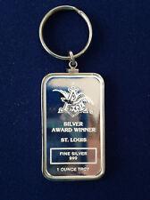 1984 Anheuser Busch St. Louis Award Winner Silver Art Bar & Bezel Pendant P1488