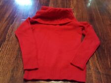 Ralph Lauren RUGBY Women's Sweater Red Cowl Neck Wool XS X-Small